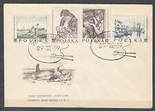 POLAND 1959 FDC SC#850/54 Paintings by Polish Artists