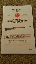 Ruger Model Ninety Six Lever Action Rifles Owners Manual