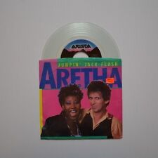 "ARETHA FRANKLIN & KEITH RICHARDS - Jumpin' jack flash - 1986 US 7"" CLEAR VINYL"