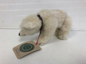 """Nod Boyd's White Bear Polar jointed w/Orig Tag 6"""" Archive Collection 1990"""