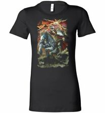 Odin Sleipnir  ladies fit  Black Fantasy Art  shirt