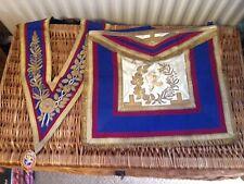 Masonic Mark Grand Lodge Full Dress  Apron  Collar & Jewel Deacon Mark Masster
