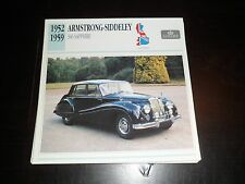 1952 - 1959 Armstrong-Siddeley 346 Sapphire Car Photo Spec Sheet Stat Info CARD