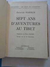 Sept Ans d'Aventures au Tibet - Heinrich Harrer - 40 héliogravures - Ed. 1953