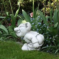 "Massive Steinfigur Troll ""Leck mich!"" Gnom Wichtel Kobold Steinguss frostfest"