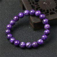 1pcs Charoite Gemstone bracelet Tassel natural Chakas Healing Reiki cuff Veins