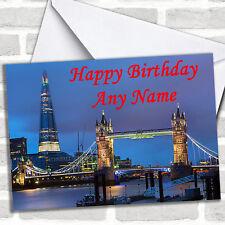 London Tower Bridge The Shard Personalised Birthday Card