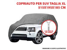 TELO COPRIAUTO COPRI SUV FELPATO IMPERMEABILE TG XL PORSCHE PANAMERA 2009>
