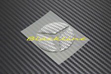 For Mercedes Steering Wheel Emblem Gray Carbon Decal A CLA 45 C E 63 AMG 350 500