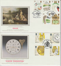 1993 GB Presentation Philatelic Services : Sotheby's silk lot of 8 x FDC's