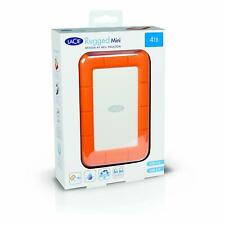"4TB LaCie Rugged Mini ShockProof 2.5"" HDD Portable External Hard Drive USB 3.0"