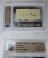 2010 Famous Fabrics Vic Stasiuk 1/1 auto 1 of 1 autograph bruins red wings