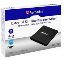 Externer Blu-ray BDXL Recorder Verbatim USB 3.0 6x/8x/24x M-DISC 100GB Schwarz