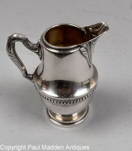 Antique French Metal Argente GH Silver Plate Creamer