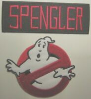 "Ghostbusters SPENGLER No Ghosts Logo Screen Accurate 4"" Patch Set of 2"