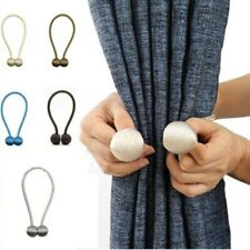 2 Pcs Household Magnetic Pearl Ball Curtain Tie Backs Buckle Clip Curtain Holder