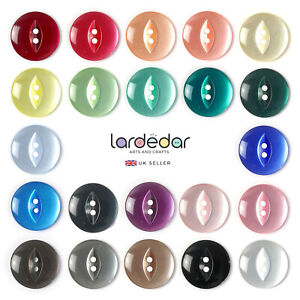 Round Fish Eye Buttons 11mm 14mm 16mm 19mm - Fast Dispatch & Free Postage 🇬🇧