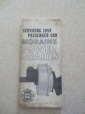 Original 1959 Chevrolet passenger car Moraine power brakes service booklet Chev