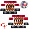 (20) 1/0 AWG Gauge Copper Lugs w/ RED & BLACK Heat Shrink Ring Terminals
