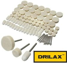 DRILAX 88 Pcs Felt Polishing Pad and Wheel - Point and Mandrel Kit For Dremel