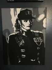 Hand-painted Custom Janet Jackson Rhythm Nation Reproduction Painting 14x11in
