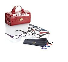 JOY Croco SHADES Readers Set with Better Beauty Case red +3.5