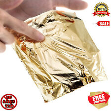 Gold Leaf 100 Sheets  Genuine For Arts Gilding Crafting Pure Leaves