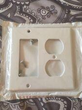 Leviton 80455 Standard Combination, Decora Wallplate 2 Gang Std Size White New