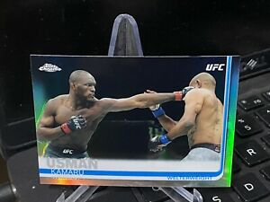 Kamaru Usman 2019 Topps Chrome UFC Refractor Card #14 Champion Champ