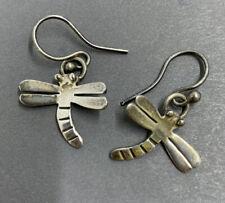 Vintage sterling silver dragonfly earrings, 925 earrings  (#52)