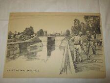 um 1939 Organisation Todt - von der O.T. neu erbaute Strassen Brücke