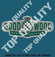 GOODWOOD REVIVAL Decal Sticker Vintage Retro Garage Race Drag Euro Stickers