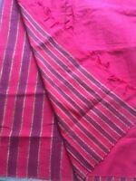 Indian Jute COTTON Handloom Patli Pallu Saree /Kanchipuram/ Katan Sari 39