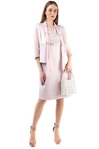 RRP €350 ROMEO GIGLI PLUS Dress Suit Size 48 / XL Textured Rhinestones Scarf