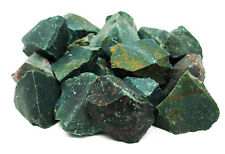 NATURAL SPECIMEN -(1) Small Green BLOODSTONE Rough Crystal w/Card- Healing Stone
