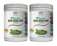 aloe vera nutrition - ORGANIC Aloe Vera Powder - probiotic drink mix 2 Bottles
