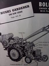 Bolens Huski Gardener Tractor Seeder Planter Implement Owner & Parts (5 Manual s