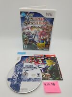 Super Smash Bros. Brawl (Wii) Complete w/ Manual & Inserts No Scratches! Mario