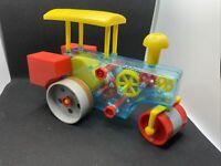 Vintage Transparent Steam Roller  Junior Mechanic Toy Made In Hong Kong RARE
