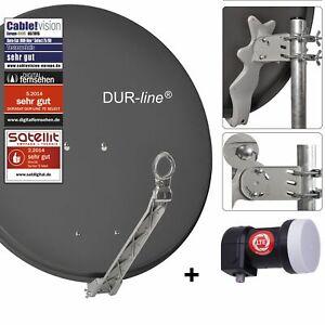 DUR-line 1-Teilnehmer Sat-Anlage | DUR-line Select 75/80A anthrazit + Single LNB