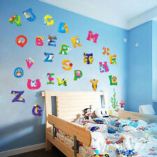 Alphabet A-Z Letters Kids Baby Educational Art Mural Animals Wall Decal Sticker