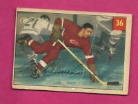 1954-55 PARKHURST # 36 RED WINGS ALEX DELVECCHIO  CARD  (INV# A7567)