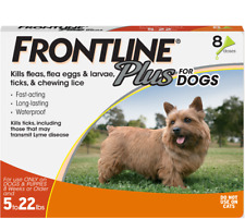 Frontline Plus for Small Dog (5-22 lbs) Flea and Tick Treatment, 8 Doses