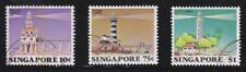 SINGAPORE 1982 LIGHTHOUSE COMP. SET OF 3 STAMPS IN FINE USED CONDITION