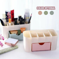 Plastic Desktop Cosmetic Box With Small Drawer Multifunctional Desk Storage Box