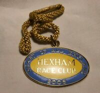 Vintage Hexham Race Club Badge #237 2006 In Great Condition