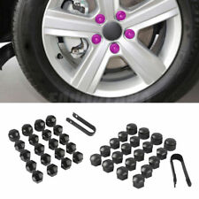 Black / Gray 16Pcs Wheel Lug Nut 17mm Cover + 4Pcs Theft-Proof Locking Cap 25mm
