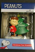 Charlie Brown Christmas tree ornament Let It Snow 2019 Hallmark Peanuts