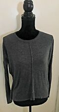 H & M Gray Long Sleeve Lightweight Sweater, Size Small