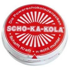 SCHO-KA-KOLA 100 g tin can dark chocolate RED Schokakola - US Seller
